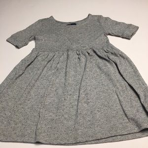GAP LIGHT GRAY DRESS SZ S 6-7 EUC